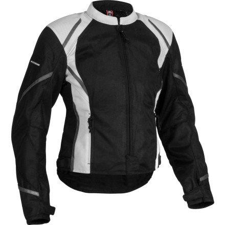 Firstgear Womens Mesh Tex Jacket XXX-LARGE BLACKSILVER