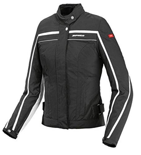 Spidi Sport SRL T165-011-S Ladies Street Tex Jacket  Distinct Name BlackWhite Gender Womens Primary Color Black Size Sm Apparel Material Textile