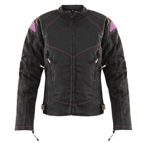 Xelement Guardian Womens BlackPurple Tri-Tex Jacket - Large