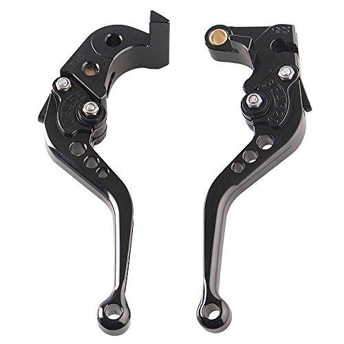 GZYF Pair Adjustable Motorcycle Short Brake Clutch Levers Set fit Suzuki GSXR1000 2005-2006 Suzuki GSXR600 GSXR750 2006 2007 2008 2009 2010