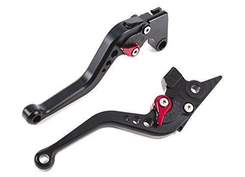 Motorcycle Short Brake Clutch Levers CNC Adjustable Aluminum for YAMAHA FZ1 FAZER 06-15FZ8 11-15FZ6R 09-15FZ6 FAZER 04-10XSR 700900 ABS 16-17MT-07 14-17MT09SRFZ9 14-17XJR DIVERSION SPL077