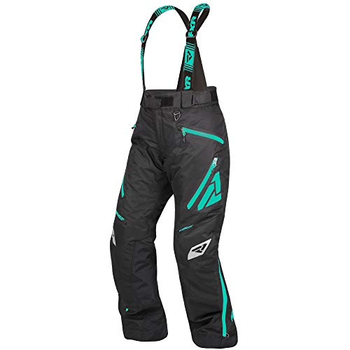 FXR Racing F19 Vertical Pro Insulated Womens Snowmobile Pants - BlackMint - 4
