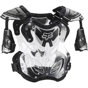 Fox Racing R3 Mens Roost Deflector Motocross Motorcycle Body Armor - Black  Large