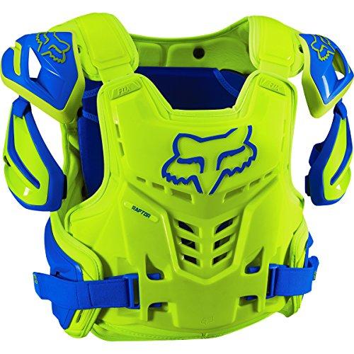 Fox Racing Raptor Vest Mens Roost Deflector Motocross Motorcycle Body Armor - BlueYellow  LargeX-Large