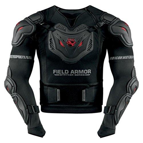 Icon Stryker Rig Mens Field Armor Street Motorcycle Body Armor - Black  MediumLarge