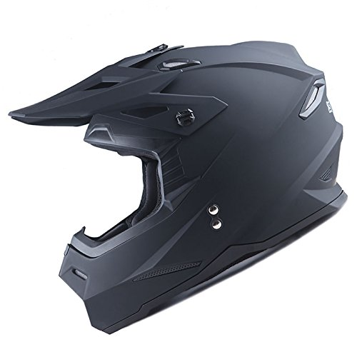 1Storm Adult Motocross Helmet BMX MX ATV Dirt Bike Helmet Racing Style Matt Black