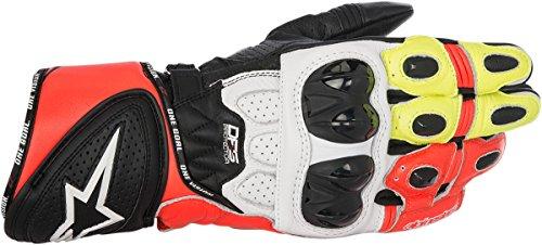 Alpinestars 355651712403X GP Plus R Leather Gloves Distinct Name BlackWhiteYellowRed Gender MensUnisex Primary Color Black Size 3XL Apparel Material Leather