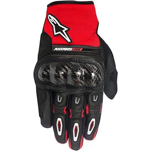Alpinestars Megawatt Mens Street Motorcycle Gloves - BlackRedWhite  Medium