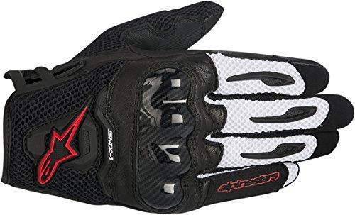 Alpinestars SMX-1 Air Mens Motorcycle Gloves - BlackWhiteRed - Medium