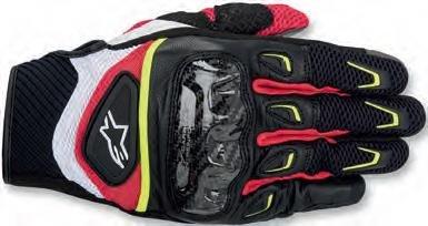 Alpinestars SMX-2 Air Carbon Mens Street Motorcycle Gloves - BlackWhiteYellowRed  X-Large