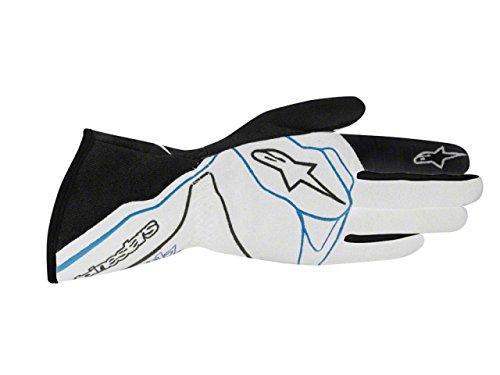 Alpinestars TECH 1-Z Gloves SilverBlackBlue Small