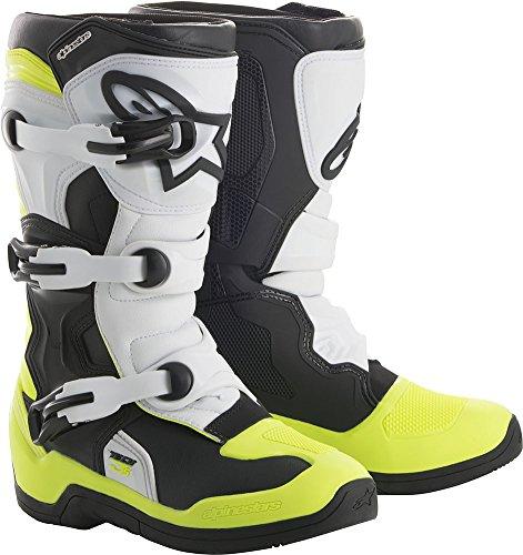 Alpinestars Youth Tech 3S Boots-BlackWhiteYellow Flo-Y5
