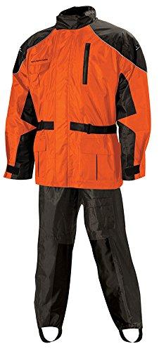 Nelson-Rigg 409-072 AS-3000 Aston 2-Piece Rain Suit  Size Sm Distinct Name BlackOrange Gender MensUnisex Primary Color Orange
