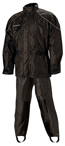 Nelson-Rigg AS-3000 Aston 2-Piece Rain Suit - Black - Medium