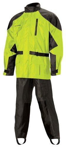 Nelson Rigg AS-3000 BlackHi-Viz Yellow Aston 2-Piece Rain Suit - Large