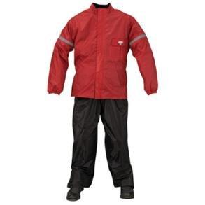 Nelson-Rigg Mens Weatherpro 2-Piece Rain Suit RedLarge