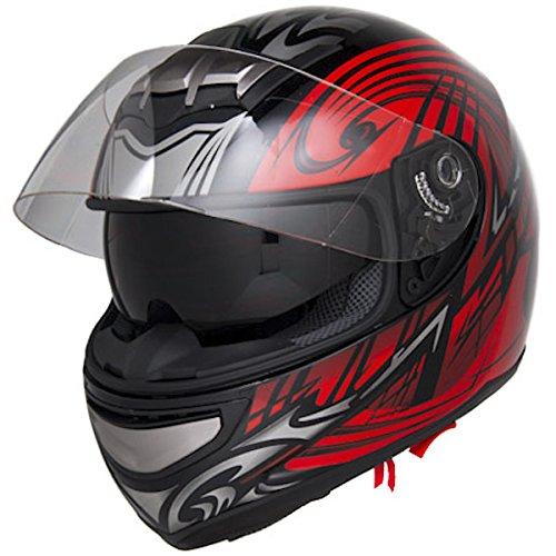Dot Approved Motorcycle Helmet Full Face W/ Air Pump System + Dual Smoke Visor Evos Sport Street Bike Cruiser