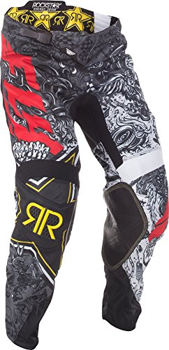 Fly Racing Unisex-Adult Kinetic Rockstar Mesh Pants BlackWhite Size 30