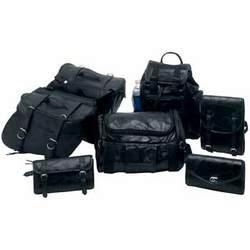 Genuine Buffalo Leather 7-Piece Motorcycle Saddlebag Luggage Set