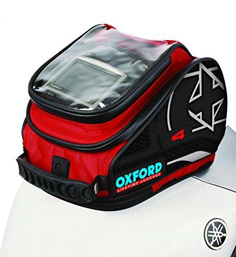 Oxford OL176 X4 Red Magnetic Tank N Trailer Motorcycle Bag