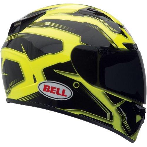 Bell Manifest Adult Vortex Street Racing Motorcycle Helmet - Hi-viz Yellow / Medium