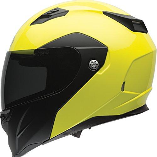Bell Optimus Adult Revolver Evo Street Racing Motorcycle Helmet - Hi-viz Matte/gloss / Large