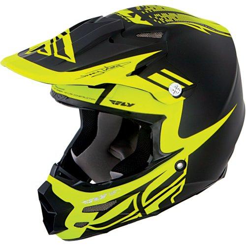 Fly Racing F2 Carbon Dubstep Adult Off-road/dirt Bike Motorcycle Helmet - Black/hi-viz / Medium