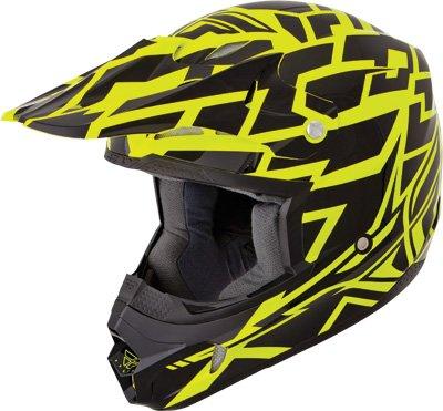 Fly Racing Kinetic Block Out Adult Off-road/dirt Bike Motorcycle Helmet - Black/hi-viz Yellow / X-large