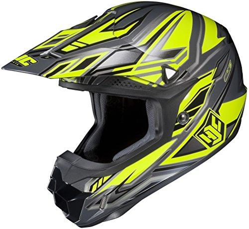 Hjc Cl-x6 Fulcrum Off-road Helmet (hi-viz Green/gray/silver, Small)