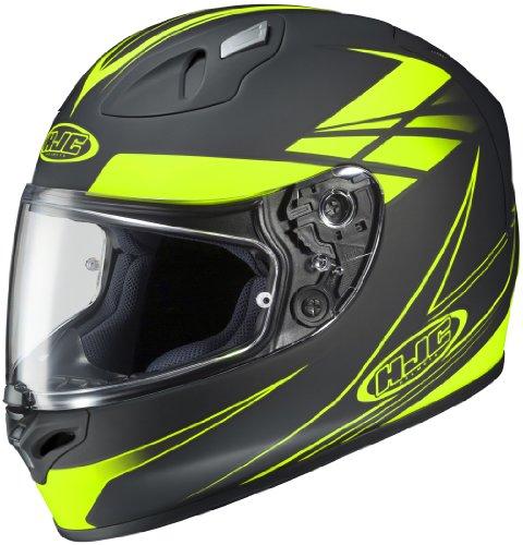 Hjc Force Men's Fg-17 Street Motorcycle Helmet - Mc-3f Hi-viz Yellow / X-large