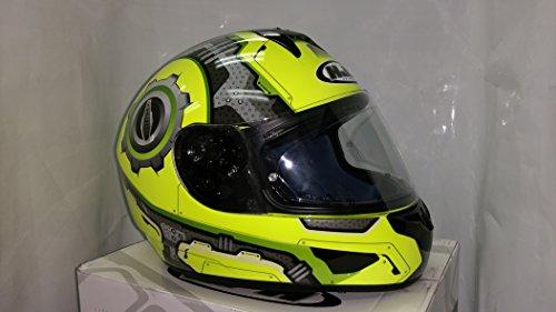 Hjc Machine Men's Cl-16 Street Motorcycle Helmet - Mc-3 Hi-viz / X-large