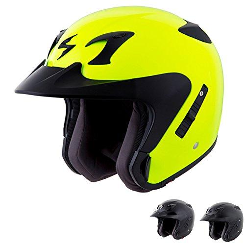Scorpion Exo-ct220 - 3/4-shell Open-face Street Motorcycle Helmet - Hi-viz Neon Yellow - Xxx-large