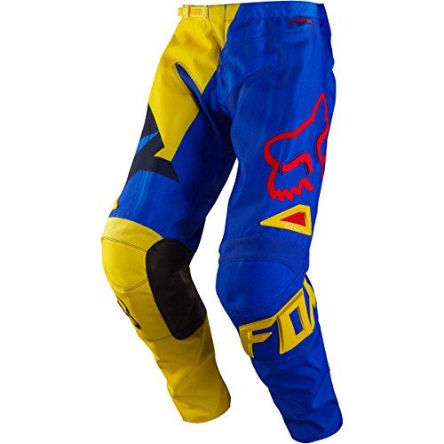 Fox Racing 180 Vandal Youth Boys MX Motorcycle Pants - YellowBlue  Size 24