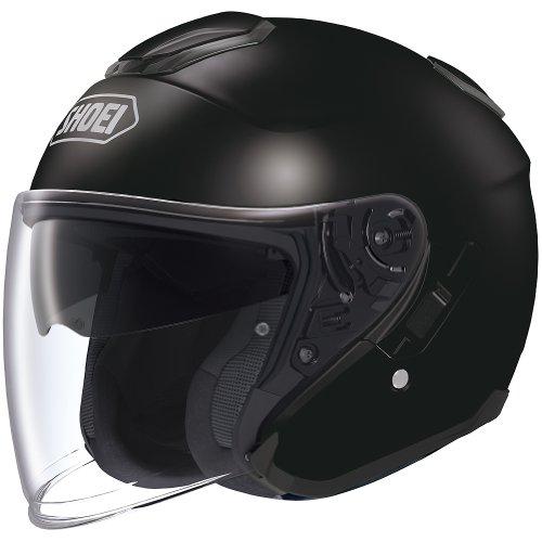Shoei Solid J-cruise Touring Motorcycle Helmet - Black / Medium