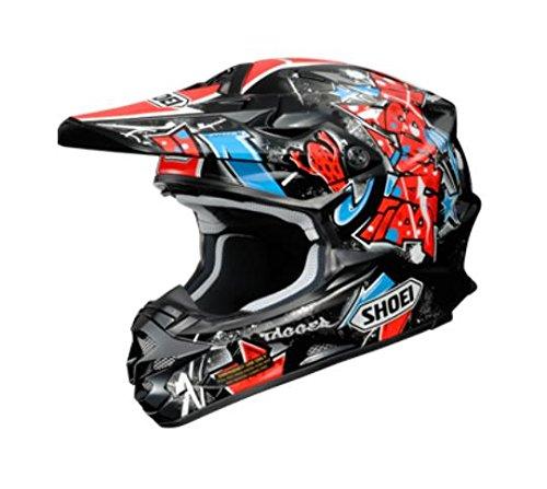 Shoei Vfx-w Barcia Off-road Helmet (black/red/blue, Large)