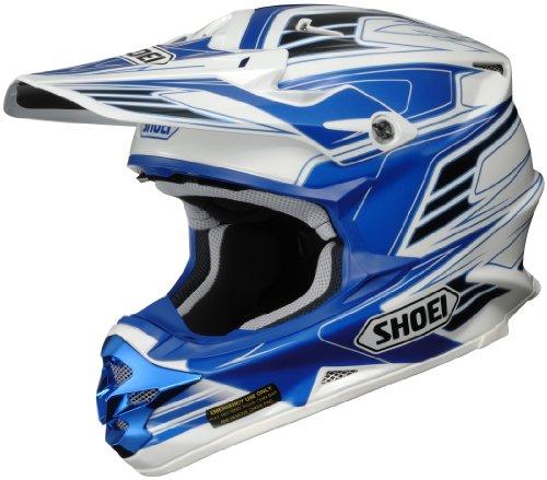 Shoei Vfx-w Werx Off-road Helmet (blue/white/black, X-large)