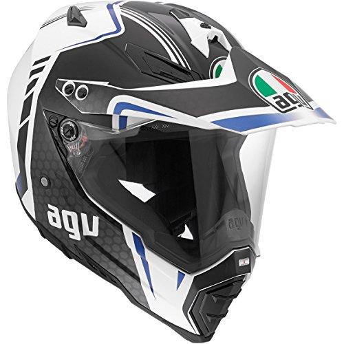 Agv Ax-8 Dual Sport Evo Helmet Composite Fiber Solid Gloss Gray/blue/white Large