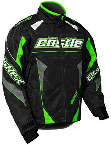 Castle X Bolt G4 Mens Snowmobile Jacket Green LG
