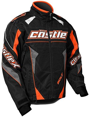Castle X Bolt G4 Mens Snowmobile Jacket Orange MD