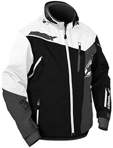 Castle X Rival Back Country Mens Snowmobile Jacket - BlackWhite - XL