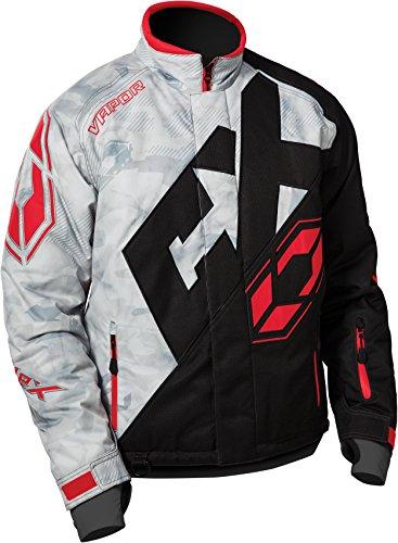 Castle X Vapor Mens Snowmobile Jacket - Alpha GrayRedBlk XLG