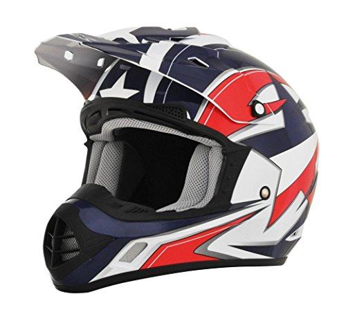 AFX FX-17 Lone Star Mens Motocross Helmets - Large