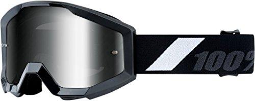 100 Unisex-Adult Goliath Strata Junior MX Motocross Goggles BlackOne Size Fits Most