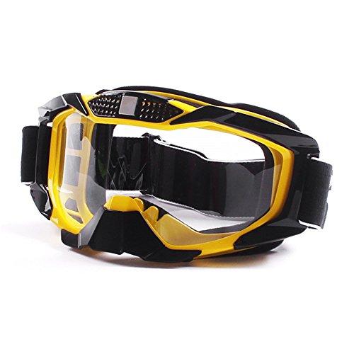 Fodsport Motorcycle Motocross Goggles Glasses MX Dirt Bike Racing Off Road Anti Fog Clear Yellow