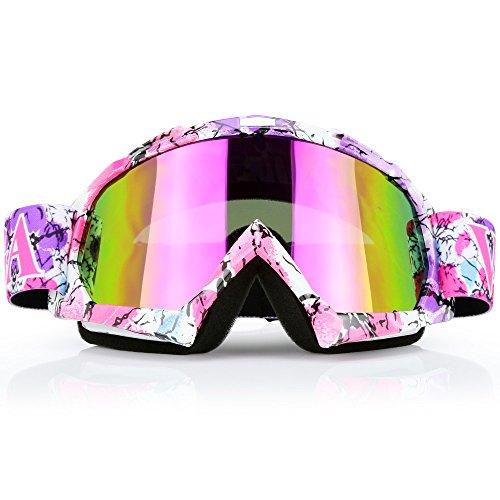 Motorcycle Goggles Dirt Bike ATV Motocross Mx Goggles Glasses for Men Women Youth Kids 8 Color C42