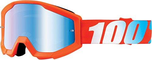 100 Unisex-Adult OrangeOrange Strata Junior MX Motocross Goggles GrayOne Size Fits Most