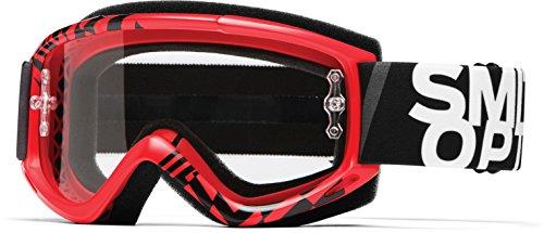 Smith Optics Fuel v1 Motocross Goggles Red Audit FrameClear Lens