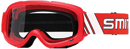 Smith Optics Gambler MX Motocross Goggles Red FrameClear Lens