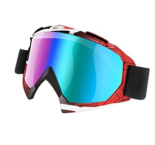 Motorcycle Glasses Goggles KEMIMOTO Men Dirt Bike ATV Motocross Goggles Glasses Adult Outdoor Tactical Windproof Dustproof Scratch Resistant Ski Motorcycle Protective