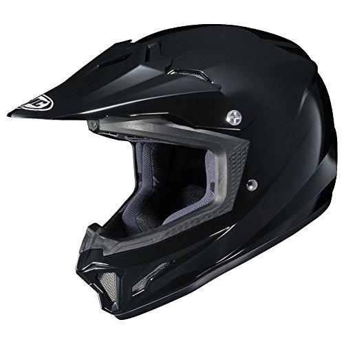 HJC CL-XY II Solid Youth Motocross Helmets - Black - Youth Medium